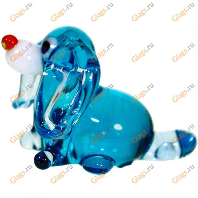 Стеклянная игрушка собака
